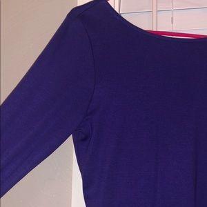 Purple Scoop Back Dress